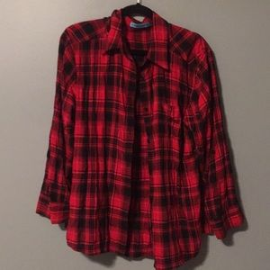 Alice + Olivia flannel shirt size large